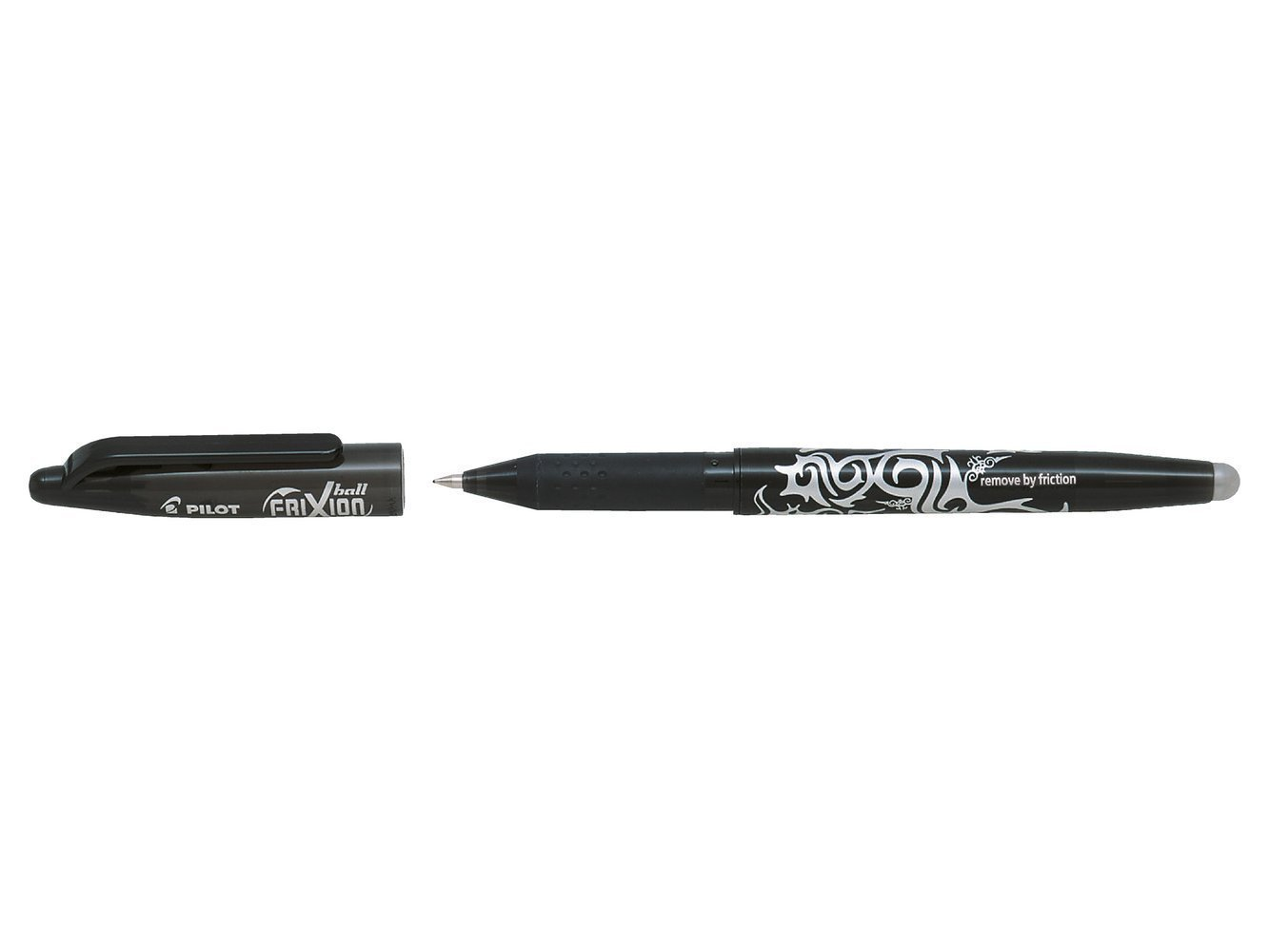 PILOT FRIXION BALL - GEL INK ROLLER - BLACK- MEDIUM TIP (0.7MM)