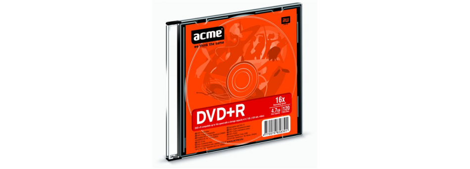ACME DVD+R RECORDABLE 4,7GB 16X 1 PCE