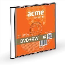 ACME DVD+RW REWRITABLE 4,7GB 4X 1 PCE