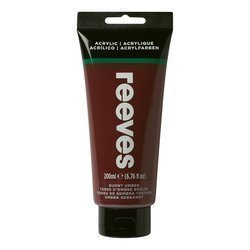 REEVES  ACRYLIC COLOUR 200ML BURNT UMBER 530