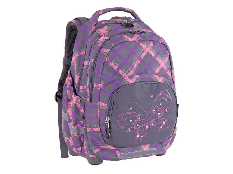 BACKPACK 2u1 KIDS PLAID BUTTERFLY