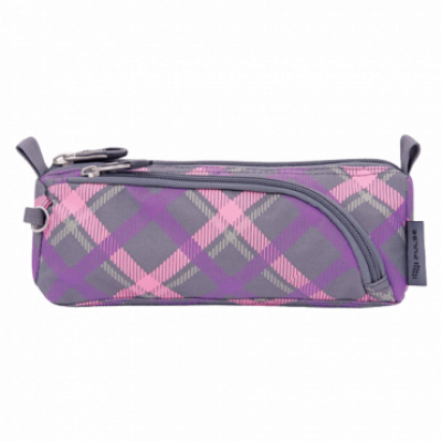 PENCIL CASE 2u1 KIDS PLAID BUTTERFLY