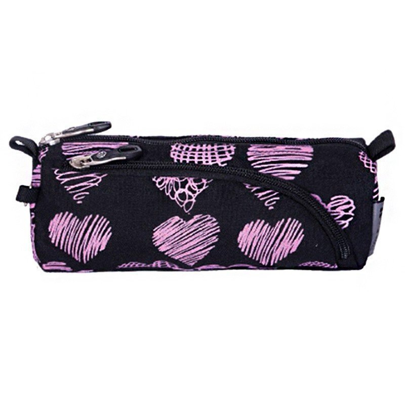 PULSE PENCIL CASE BLACK SCRABBLE HEART