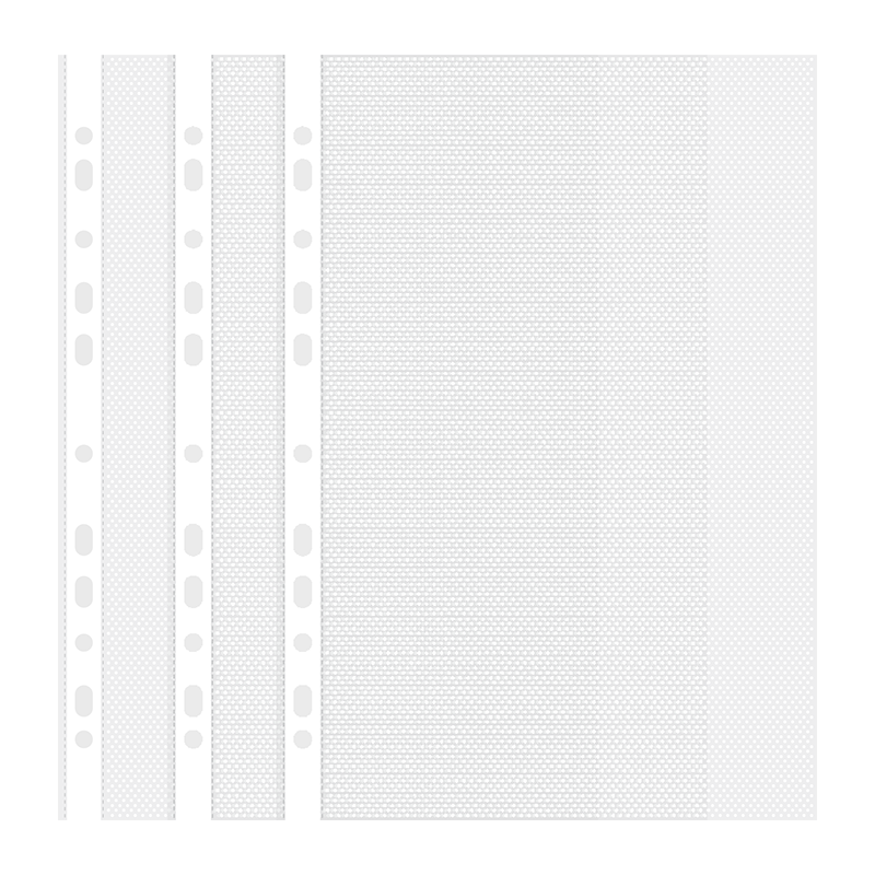 DELI 11-HOLE SHEET PROTECTOR A4 0.035MM 100PK