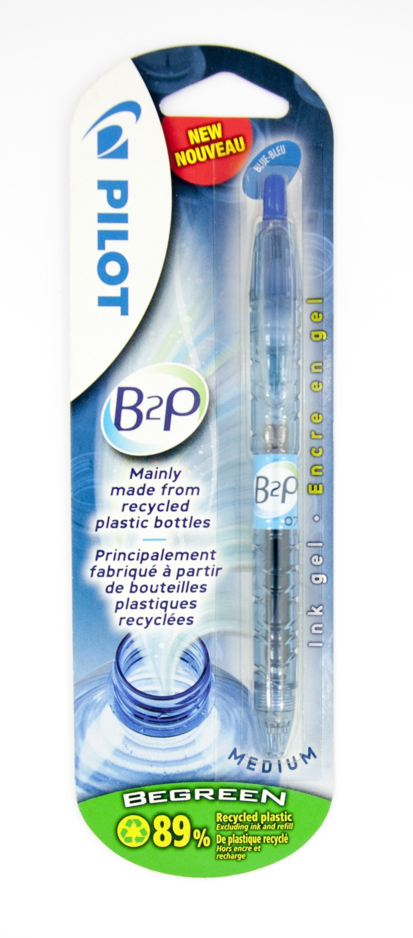 PILOT B2P ROLLER BALL PEN 0.7MM BLUE BLISTER