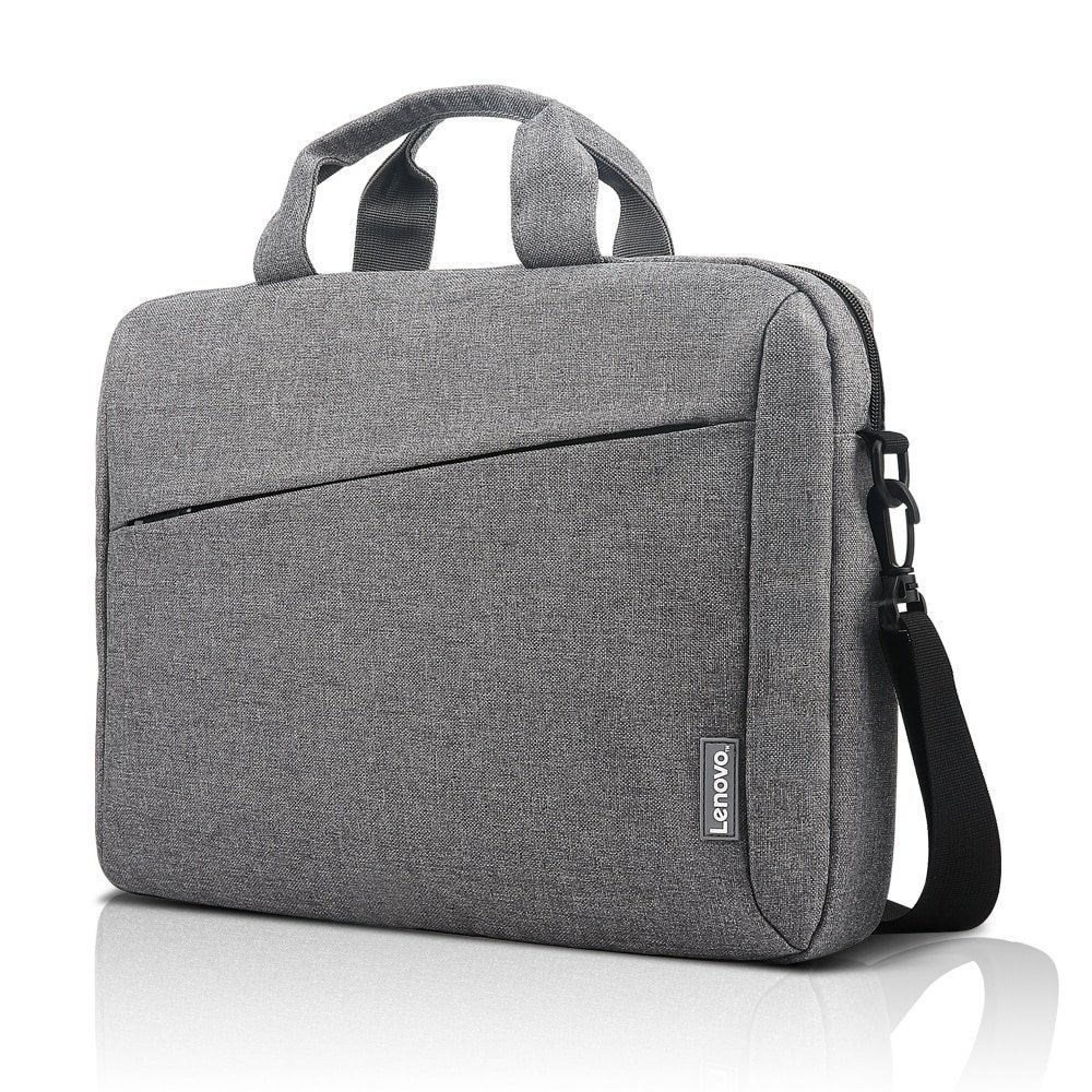 "LENOVO CASUAL TOPLOADER T210 FITS UP TO SIZE 15.6"" GREY, LAPTOP MESSENGER BRIEFCASE"