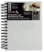 REEVES CANVAS COVERED SKETCHBOOK A5
