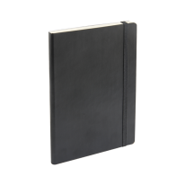 DELI PU COVER RULED NOTEBOOK 25K 98P - BLACK