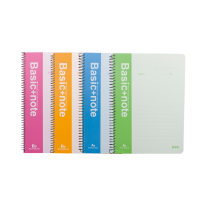 DELI SPIRAL SOFT COVER RULED NOTEBOOK A5/60P-LINE - ASSORTED COLOURS
