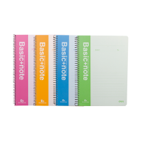 DELI SPIRAL SOFT COVER RULED NOTEBOOK A5/80P-LINE - ASSORTED COLOURS