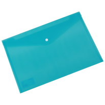 DELI FILE BAG SNAP FC 2C TRANSLUCENT - LIGHT BLUE