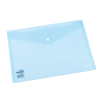 DELI FILE BAG SNAP A4 2C TRANSLUCENT - LIGHT BLUE