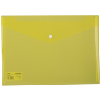 DELI FILE BAG SNAP A4 2C TRANSLUCENT - YELLOW