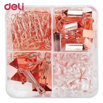 DELI STATIONERY SET - ROSE GOLD - THUMB TACK / PUSH PIN / PIN SET