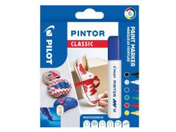 PILOT PINTOR - WALLET REGULAR MIX -X6- MEDIUM - BLACK BLUE GREEN YELLOW WHITE RED