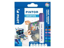 PILOT PINTOR - WALLET CREATIVE MIX -X 6- MEDIUM - BLACK VIOLET LIGHT BLUE PINK LIGHT GREEN ORANGE