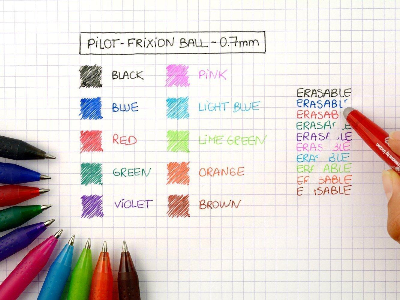 PILOT FRIXION BALL - GEL INK ROLLER - BLUE - MEDIUM TIP (0.7MM)