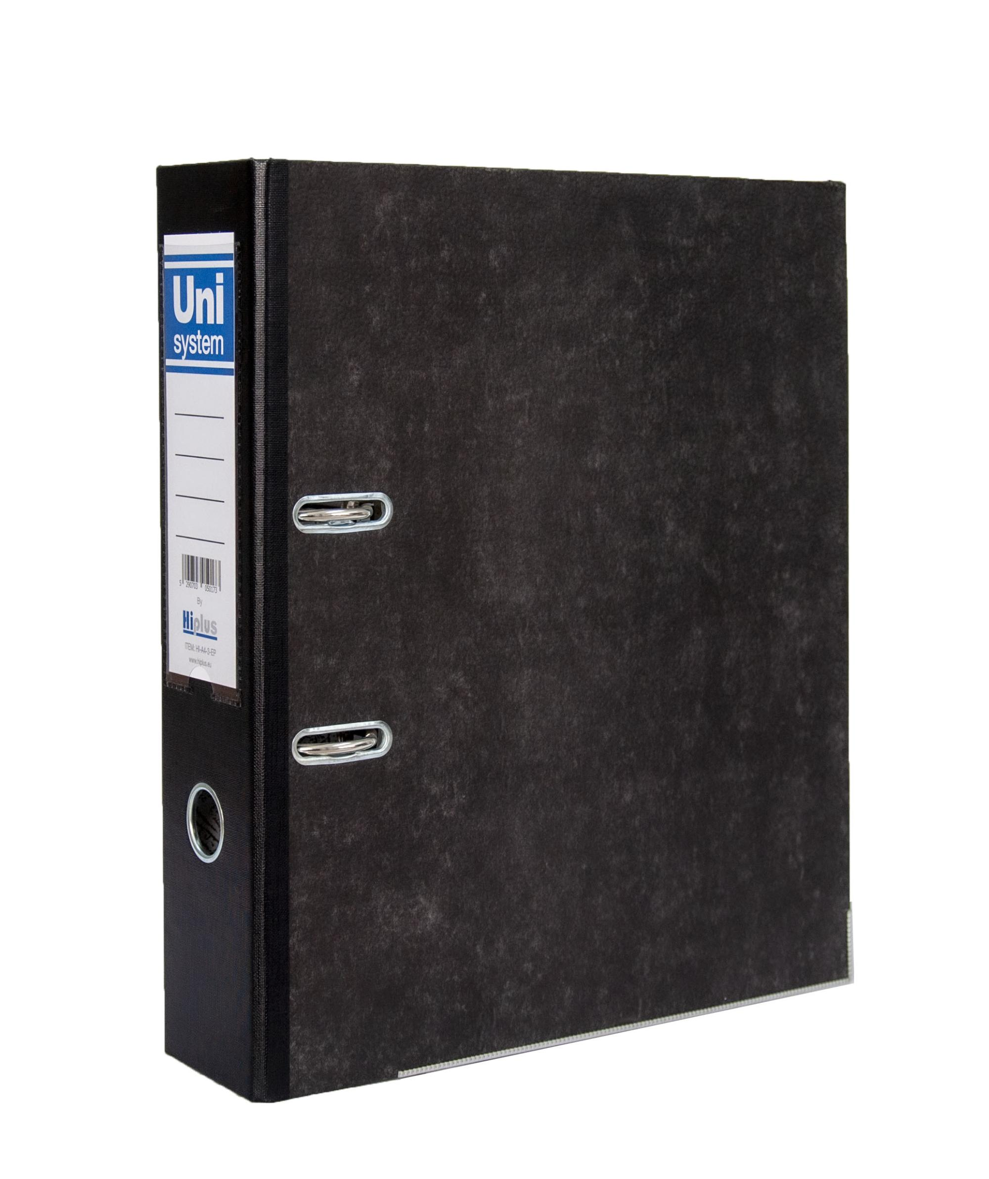 "HI-PLUS A4 LEVER ARCH FILE  - 3"" SPINE - EMBOSSED PAPER"