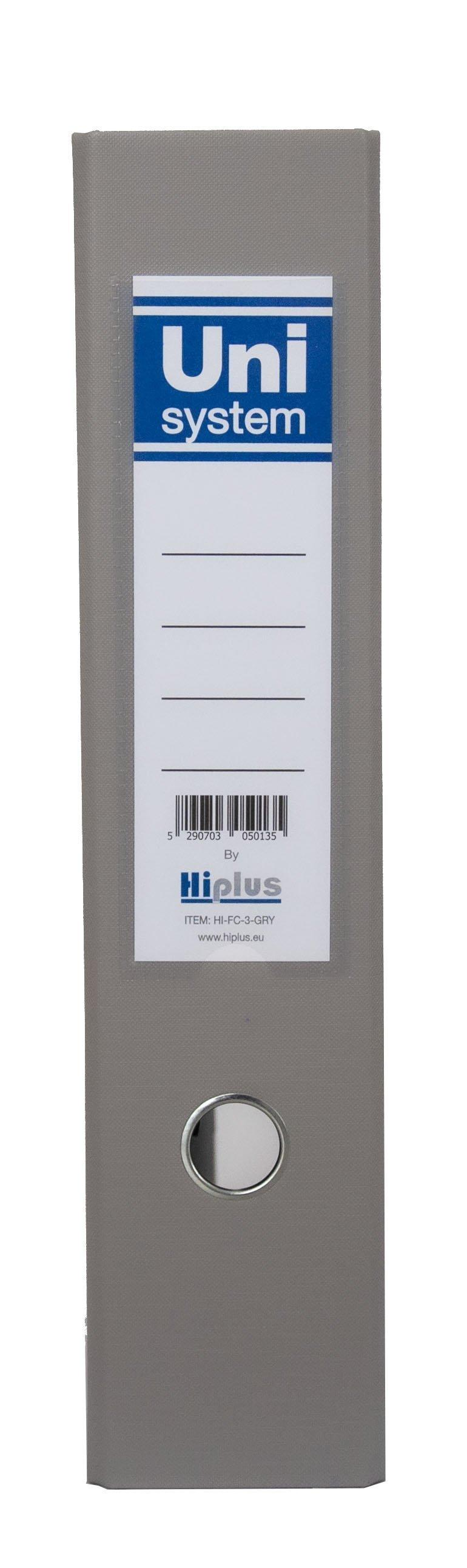 "HI-PLUS FCP LEVER ARCH FILE  - 3"" SPINE - GREY"