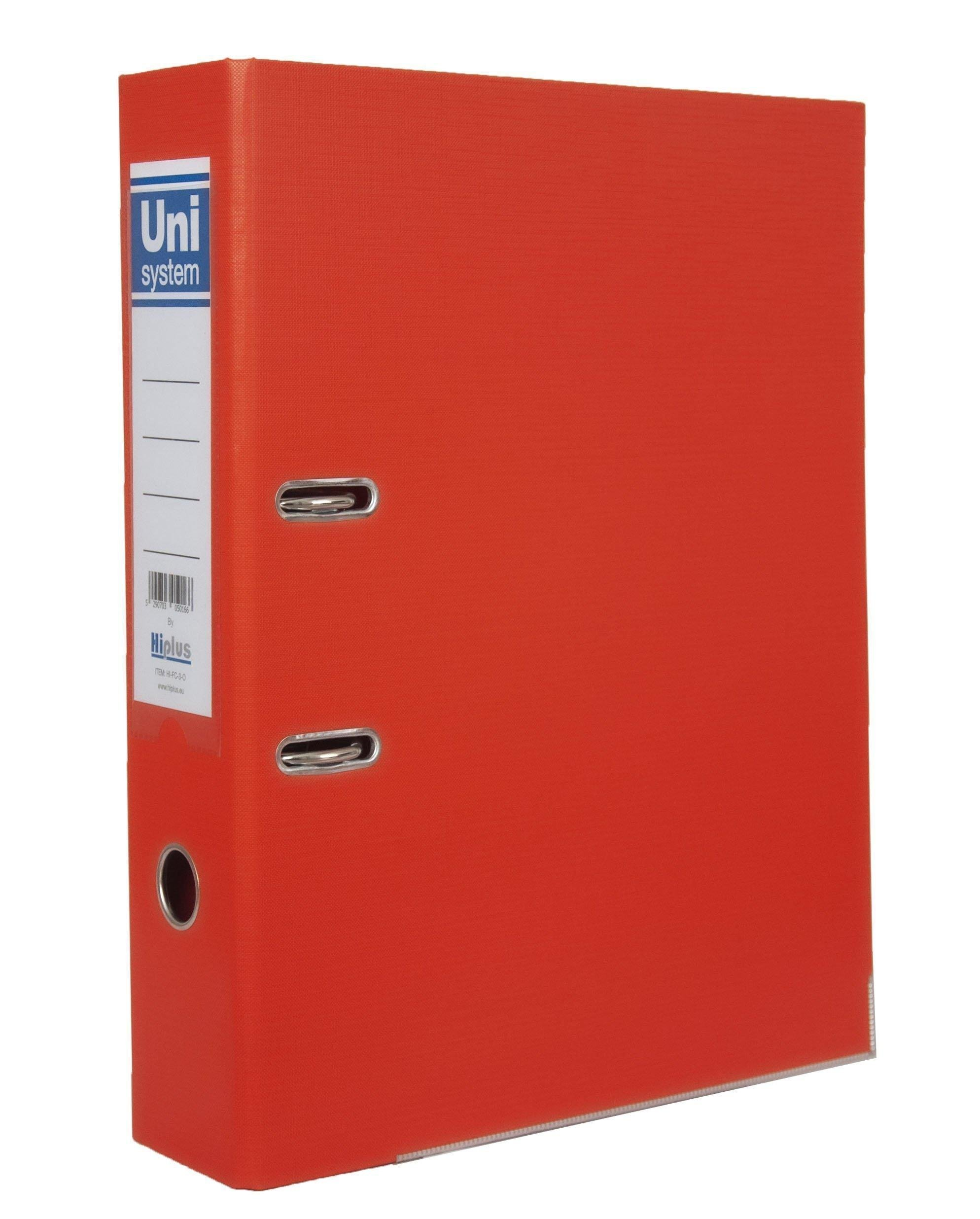 "HI-PLUS FCP LEVER ARCH FILE  - 3"" SPINE - ORANGE"