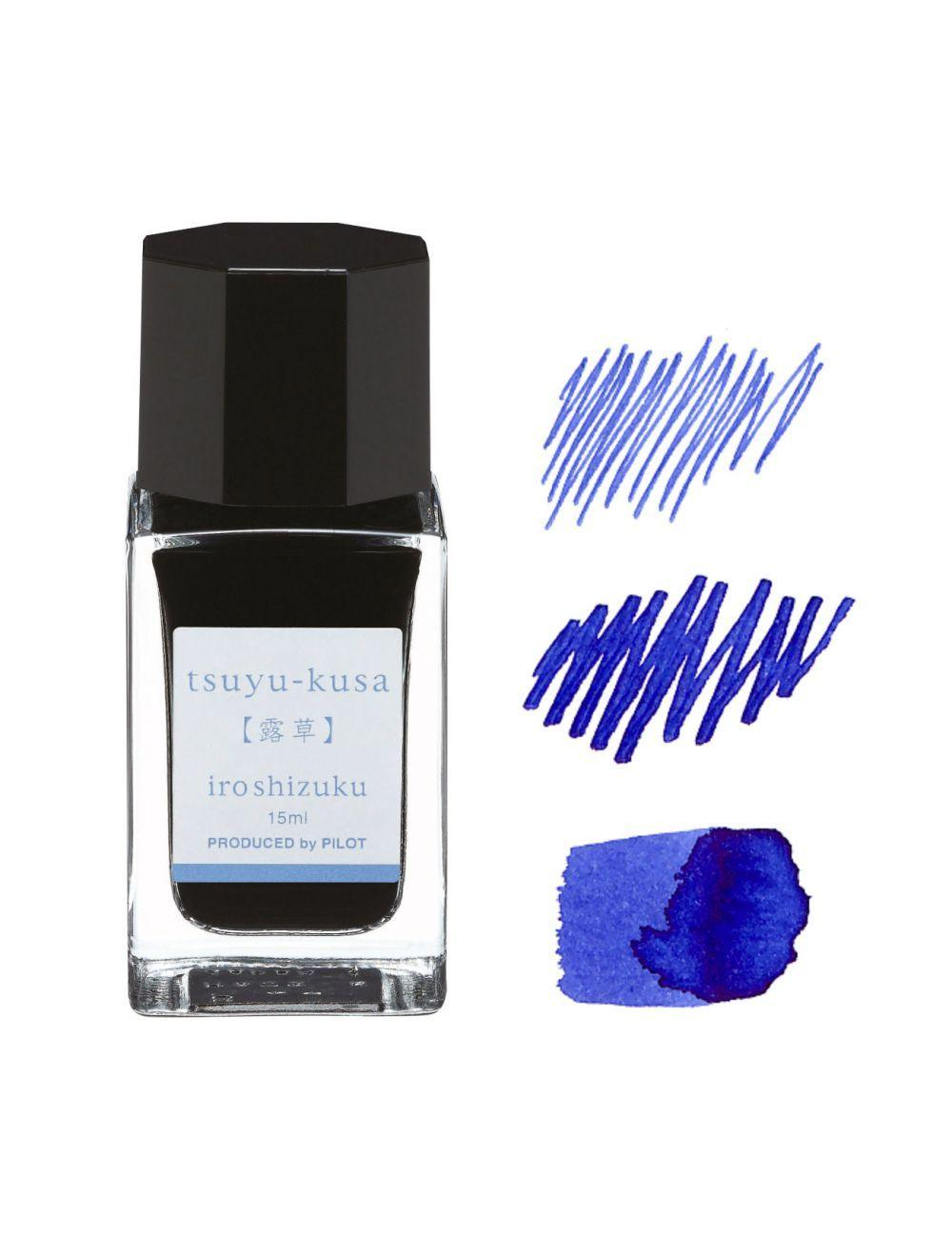 IROSHIZUKU INK - 1 BOTTLE 15 ML BLUE TSUYU-KUSA - IN BOX