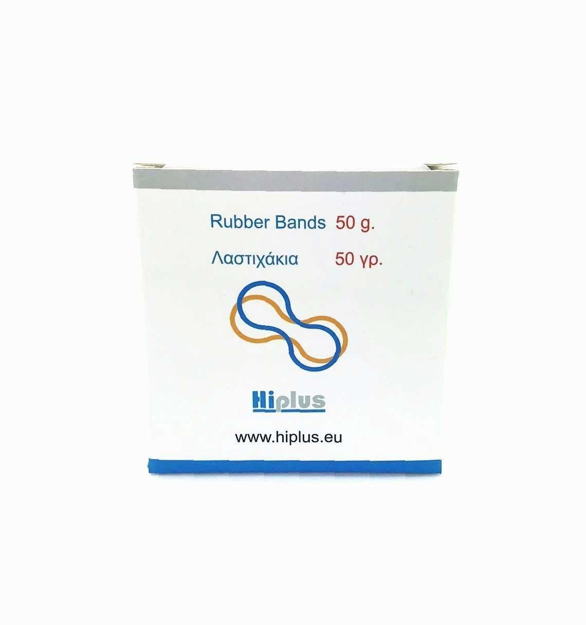 RUBBER BANDS 100% CREPE 50 GRAMS BOX - 130X3MM