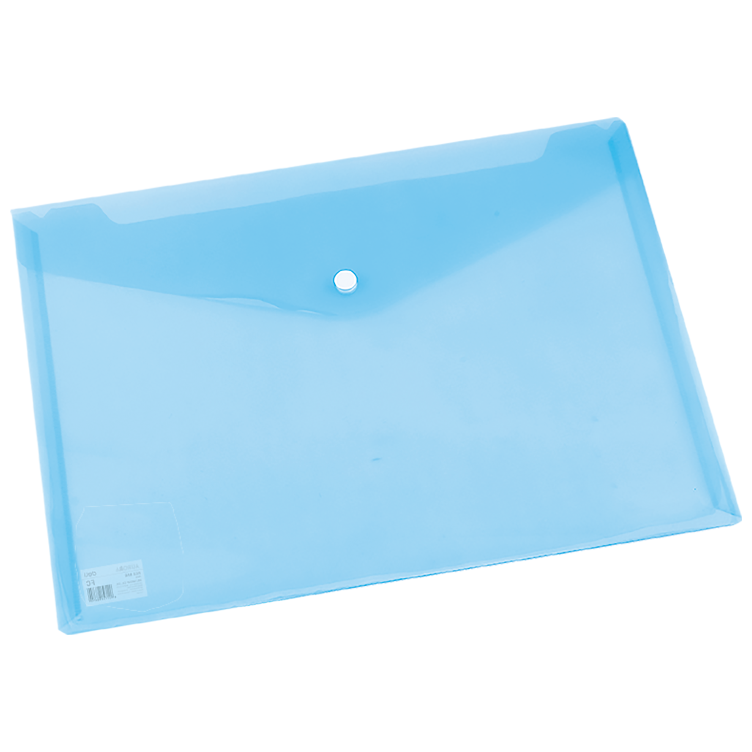 DELI FILE BAG SNAP FC 2C TRANSLUCENT - BLUE
