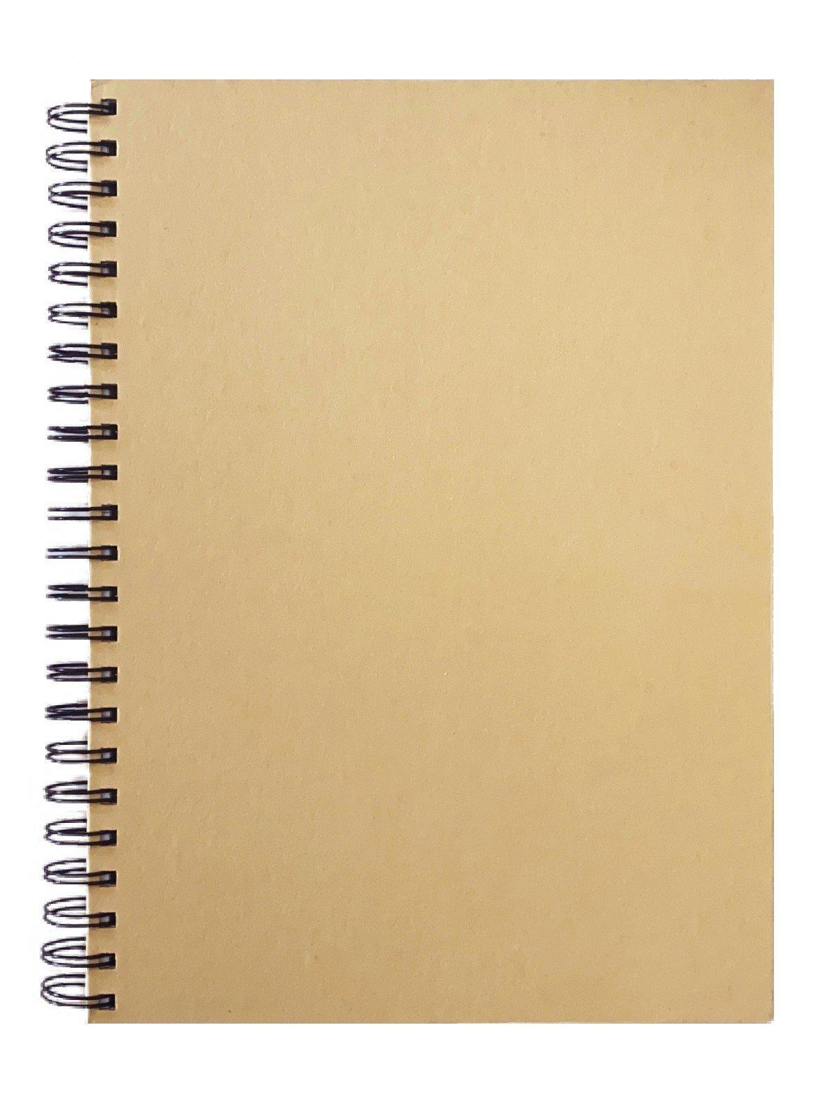 Golden Prime -  NATURAL KRAFT - PERFORATED - A4 SIDE WIRE-O 15O SHEETS