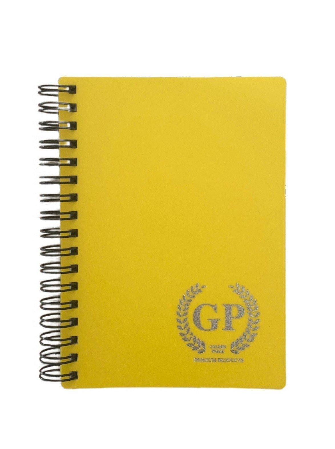 Golden Prime -  PP WIRE-O NOTEBOOK - A5 - 80 SHEETS - BLACK