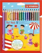 STABILO TRIO THICK PENCIL 18 PCS WALLET