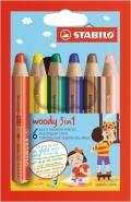 STABILO WOODY 3 IN 1 BOX OF 6 PCS
