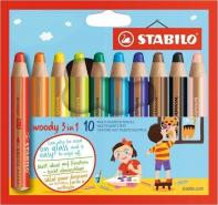 STABILO WOODY 3 IN 1 BOX OF 10 PCS