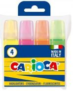 CARIOCA HIGHLIGHTERS SET OF 4 ASSORTED