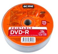ACME DVD-R RECORDABLE 4.7GB 16X 25PCS PACK