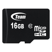 TEAM MICRO SD CLASS 10/WITH ADAPTER16GB