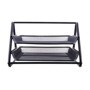 DELI 2-TIER MESH FILE TRAY