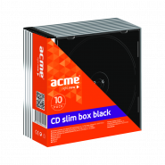 ACME 5.2MM SLIM CD CASES BLACK 10 PCS PACK