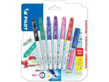 PILOT FRIXION COLORS BLISTER 6PCS - 2 STAMPS L/P