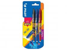 PILOT FRIXION BALL - BLISTER 3 - B/L/R - MEDIUM TIP (0.7MM)