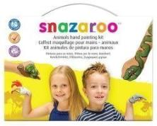 SNAZAROO STAMP FACE PAINTING KIT ANIMALS HAND