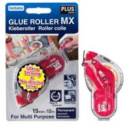 PLUS GLUE TAPE ROLLER MX 5 BODY + 5REFILL 15MMX12M DIS 38862