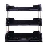 DELI FILE TRAY 3-TIER - BLACK