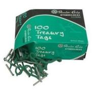 TREASURY TAGS PLASTIC ENDED 100PCS BOX ( 178MM )