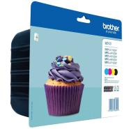 BROTHER INK  VALUE PACK BLACK, CYAN, MAGENTA, YELLOW 600P EACH