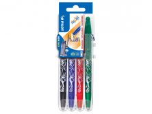 PILOT SET 2 GO - FRIXION BALL X 4 B/L/R/G - GEL INK ROLLER - MEDIUM TIP (0.7MM)